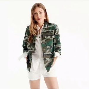 J. Crew Camouflage light weight utility jacket